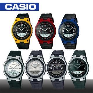 【CASIO 卡西歐】日系雙顯錶-電話記憶功能腕錶(AW-80)