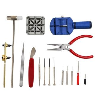 【WISH】DIY 鐘錶工具組 換電池/拆錶帶/保養/維修(16件入)