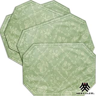 【M.B.H─水果花園】PVC防潑水餐墊(綠4入)
