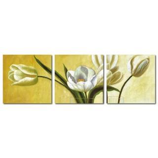 【123點點貼】三聯式花朵風創意無痕壁貼(TCY-0094)