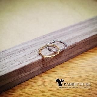 【RD 兔子公爵】現貨 經典歐美風格 個性骨節鑲鑽細緻戒指/尾戒/第二關節戒(二色)