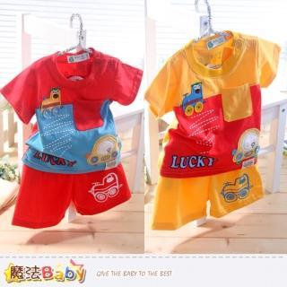 【魔法Baby】嬰幼兒套裝-短袖短褲套裝(k34622)