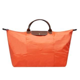 【LONGCHAMP】摺疊短把水餃手提包(大-柿子橘1624089-017)