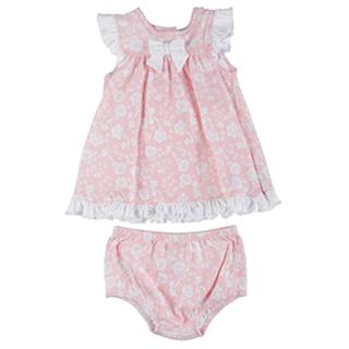 【Little Me】無袖洋裝包屁褲套裝2件組-粉嫩花朵 款 #LCU02266N