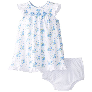 【Little Me】無袖洋裝包屁褲套裝2件組-藍色碎花 款 #LCU02263N