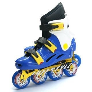 【D.L.D 多輪多】鋁合金底座 專業競速直排輪 溜冰鞋(水藍白 -- FS-1)