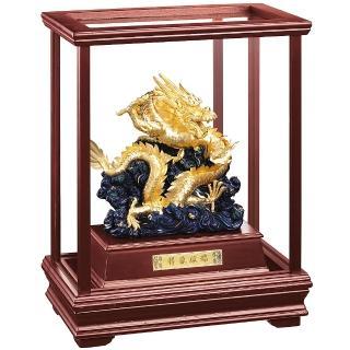 【開運陶源】純金 立體金箔櫥窗 祥龍獻瑞(金龍雕塑)