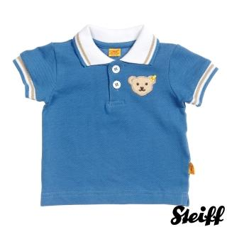 【STEIFF德國精品童裝】短袖 Polo 上衣 藍(Polo衫)