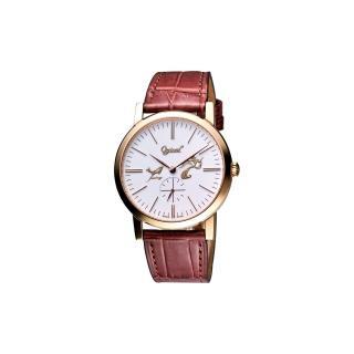 【Ogival】嫦娥奔月紀念機械腕錶-玫塊金(388-12MR皮)