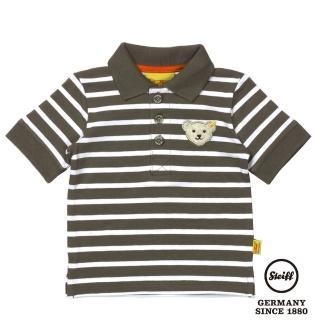 【STEIFF德國精品童裝】短袖 Polo 橫條 上衣 綠(Polo衫)