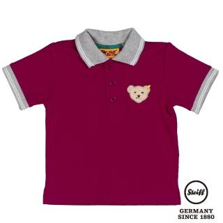 【STEIFF德國精品童裝】短袖 Polo 上衣 酒紅(Polo衫)