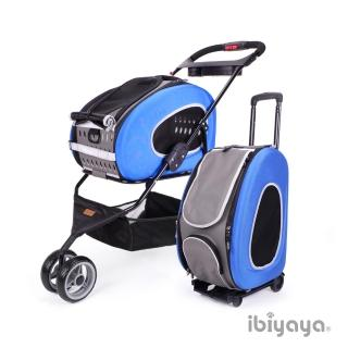 【IBIYAYA依比呀呀】五彩繽紛寵物推車提包組-寶藍(FS1009)