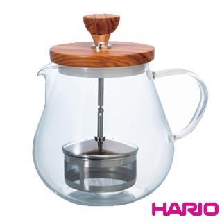 【HARIO】橄欖木濾壓茶壺700ml(TEO-70-OV)