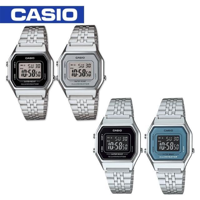 【CASIO 卡西歐】日系-復古風電子錶(LA680WA)