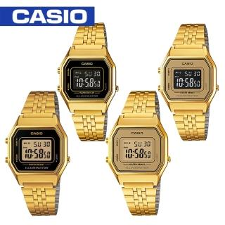 【CASIO 卡西歐】日系-復古風電子錶(LA680WGA)