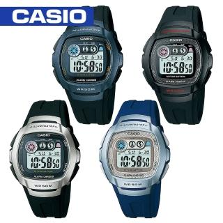 【CASIO 卡西歐】日系-學生指定型電子錶_LED照明_防水_鬧鈴(W-210)