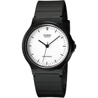 【CASIO 卡西歐】極簡時尚數字指針石英錶(白x黑/35mm)