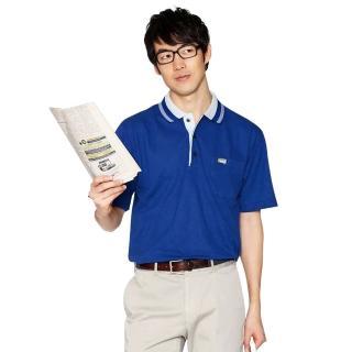 【KADA】寶藍紳士男款短袖POLO衫(36008)