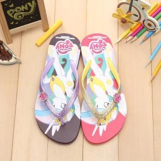 【童鞋城堡】Pony彩虹小馬銀蔥人字夾腳拖鞋(MP0112)