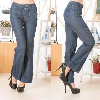 【RH】簡約時尚大方休閒寬版直筒牛仔褲(牛仔藍全尺碼S-3L)