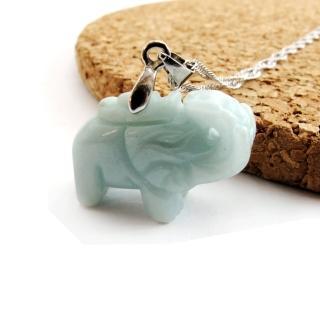 【Hera】頂級天然A貨翡翠大象/吉祥如意/項鍊