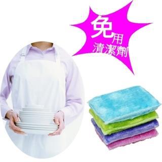【台灣芳潔嚴選】加大尺寸木纖洗碗布/抗油魔術洗潔布x36入(四色隨機出貨)