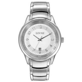 【LOVME】摩登簡約時尚腕錶(白)