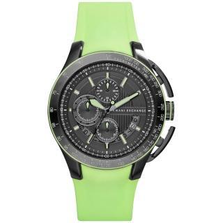 【A│X Armani Exchange】品味醞釀時尚橡膠運動錶-鐵灰(AX1412)