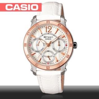 【CASIO 卡西歐 SHEEN】粉領階級/上班族/淑女石英腕錶(SHN-3012GL)