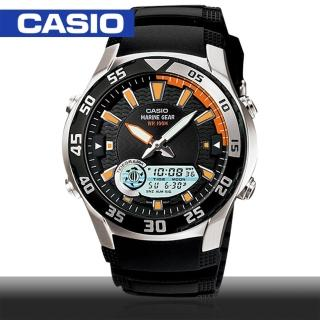【CASIO 卡西歐】日系-多功能雙顯錶/月相/潮汐(AMW-710)