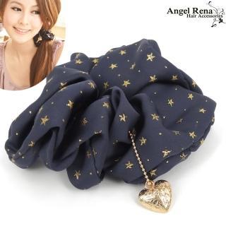 【Angel Rena】繁星˙雕花愛心墜飾髮束(深優黑)