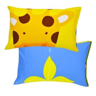【義大利Fancy Belle】《繽紛動物園》貢緞信封枕套--2入