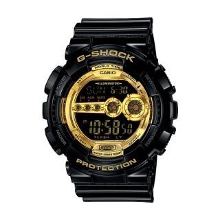 【CASIO 卡西歐 G-SHOCK 系列】黑金狂潮多層次金屬限量錶(GD-100GB)