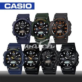 【CASIO 卡西歐】太陽能時尚雙顯液晶腕錶(AQ-S810W)