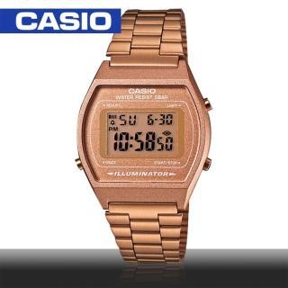 【CASIO 卡西歐】日系- 復古玫瑰金錶款(B640WC)