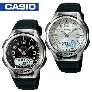 【CASIO 卡西歐】日系-多功能雙顯錶(AQ-180W)