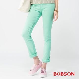 【BOBSON】女款高腰大彈力緊身褲(果綠40)