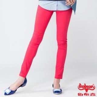 【BOBSON】女款亮光紗大彈力緊身褲(紅13)