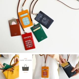 【韓國 invite.L】識別證夾 信用卡夾 名片夾 雙面設計好實用 俐落簡約風格(春漾五色可選擇)