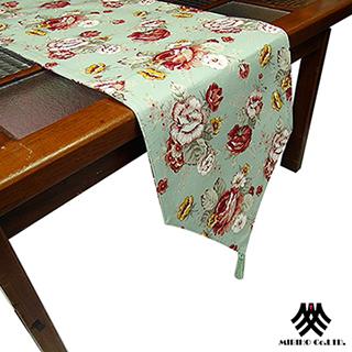 【M.B.H─玫瑰花園】純棉防潑水桌旗(綠33x230cm)