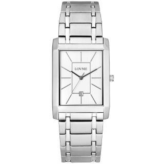 【LOVME】氣質紳士時尚腕錶-白(白)