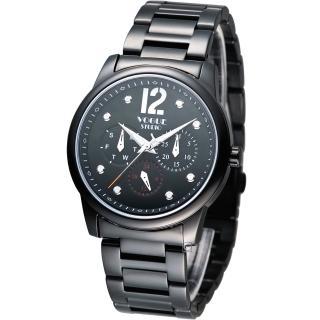 【VOGUE】星期日期多功能時尚腕錶(7V3834DD)