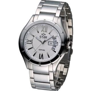 【STAR】閃耀約定時尚紳士錶(9T0632SS)