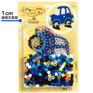 【Hama幼兒大豆豆】250顆大拼豆幼兒早教學習組合(透明車板)