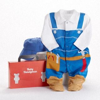 【BabyAspen】BAS 小小建築師寶寶套裝彌月禮物組 0-6M(#BA16010HD)