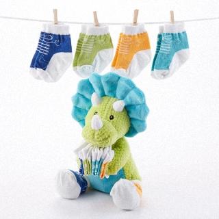 【BabyAspen】BAS 小恐龍嬰兒襪組4入 0-6M(#BA15072NA)