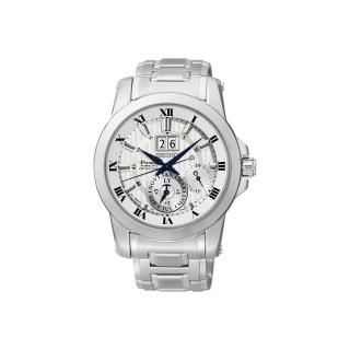 【SEIKO】PREMIER 人動電能大視窗萬年曆腕錶-銀/41mm(7D56-0AB0S)