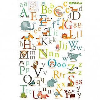時尚壁貼(動物字母)