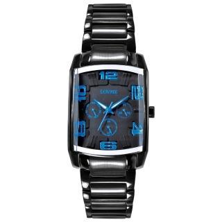 【LOVME】魔幻立體空間時尚腕錶-IP黑x藍刻度(VS0363M-33-3B2)
