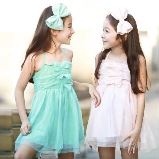 【baby童衣】女童洋裝 蕾絲綁帶露背連衣裙 42153(共二色)